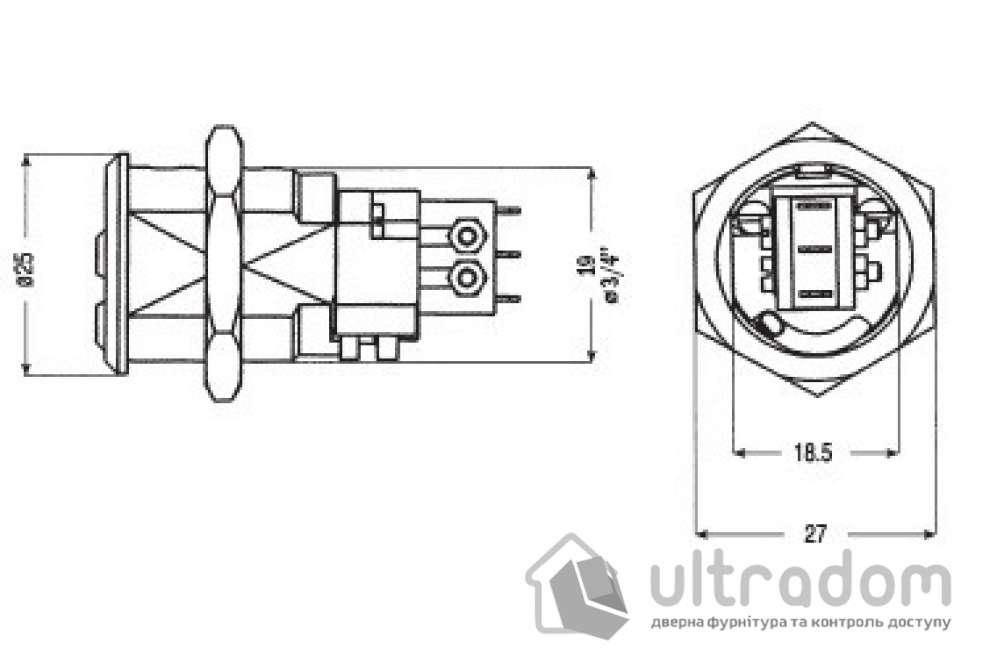 Электрический переключатель с управлением от ключа MUL-T-LOCK CAM Switch