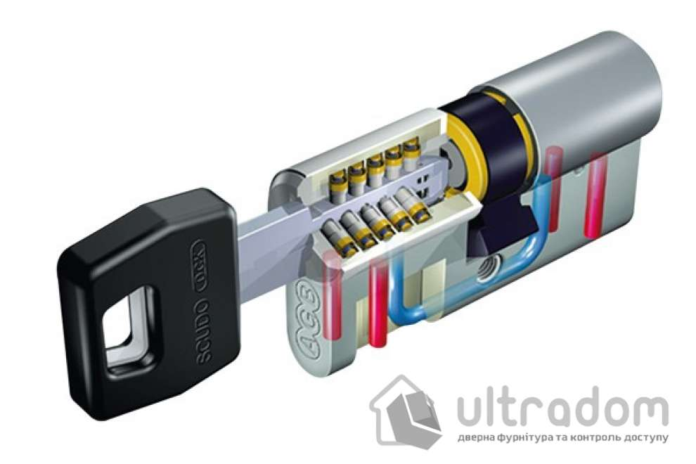 Цилиндр дверной AGB SCUDO DCK ключ-вороток 110 мм