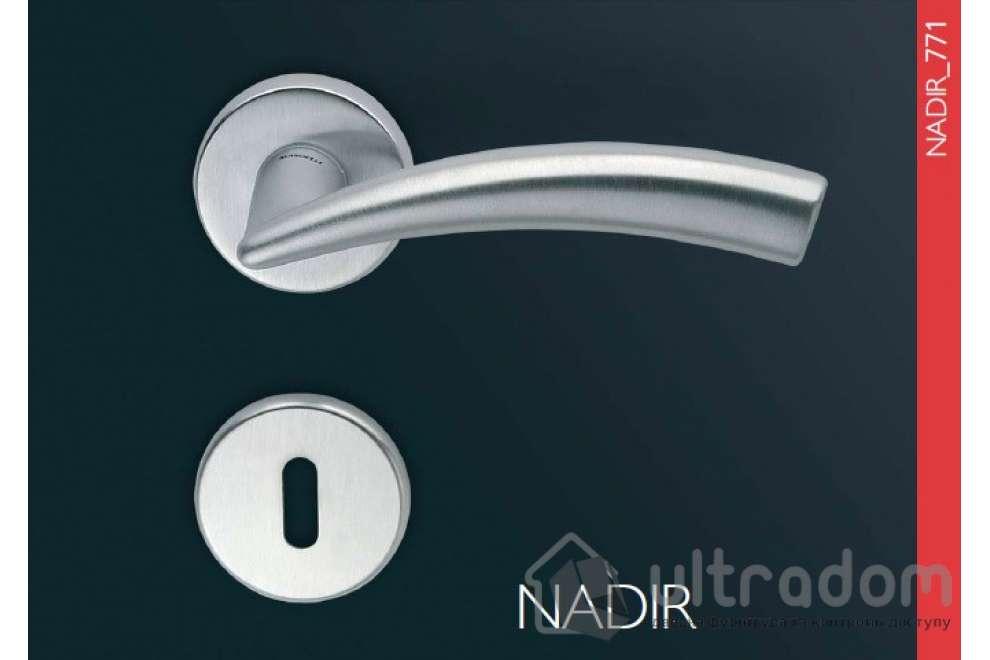 Дверная ручка Mandelli NADIR цвет - матовый хром
