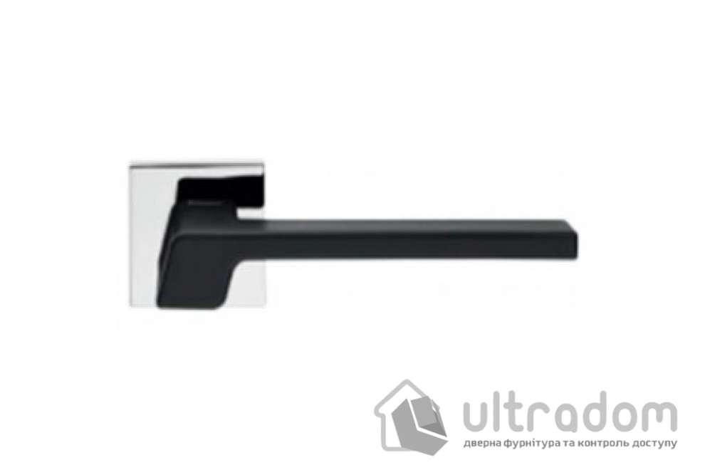 Ручка дверная Linea Cali STREAM  чёрная/хром полированный