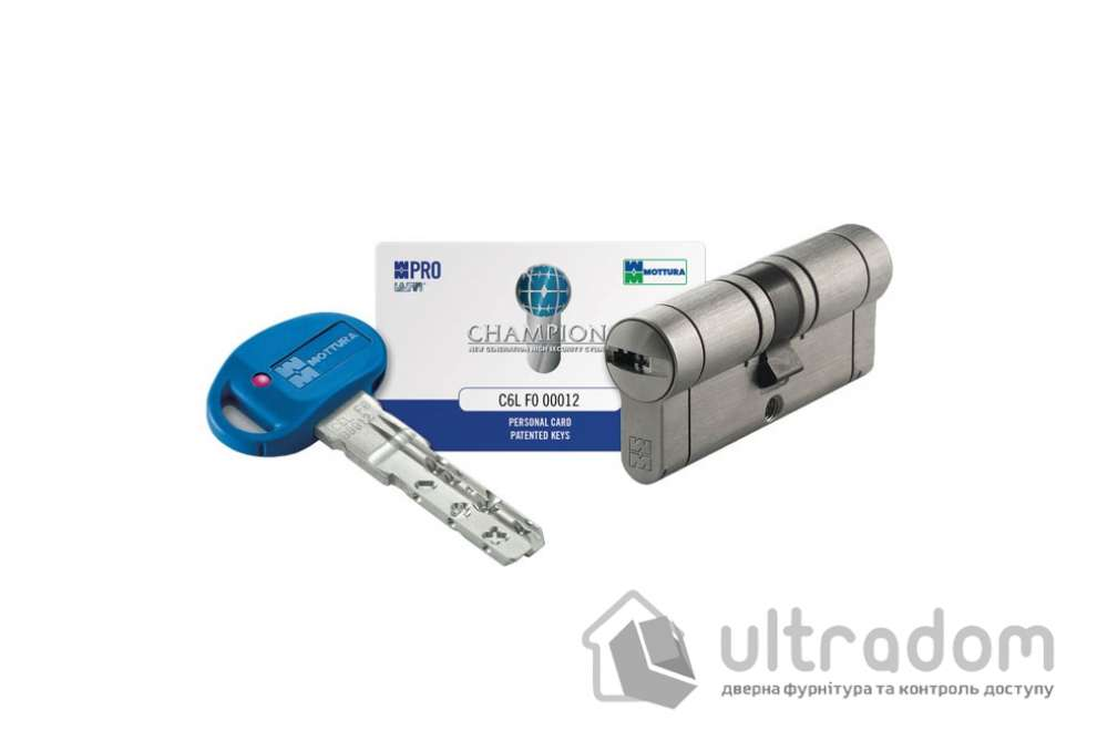 Цилиндр дверной MOTTURA Champions PRO ключ-ключ 62 мм