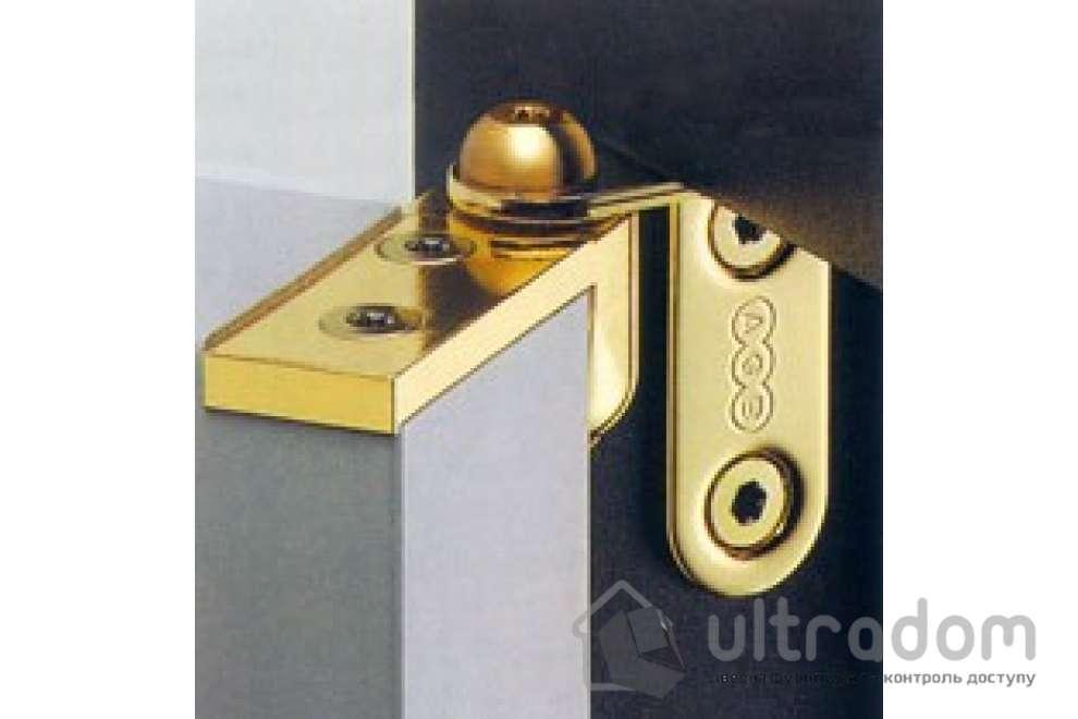 Петля полускрытая AGB 2R, комплект на дверь, цвет - полированная латунь