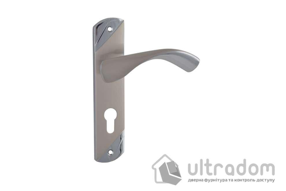 Дверная ручка на планке под ключ (85-62 мм) SIBA Siena мат.никель-хром