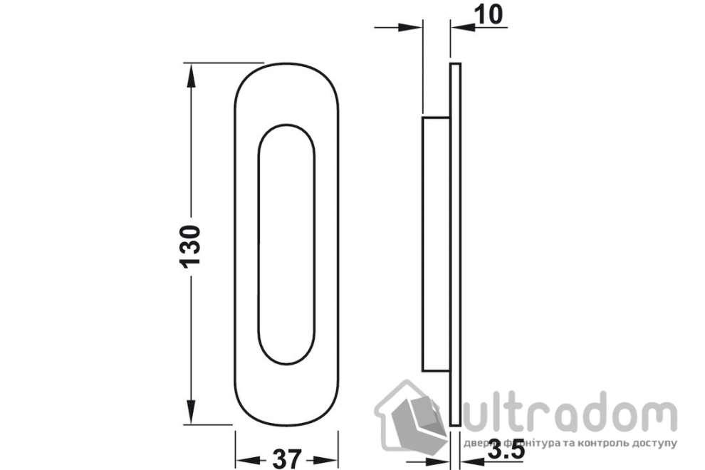 Ручка-ракушка HAFELE овальная 37x130 мм