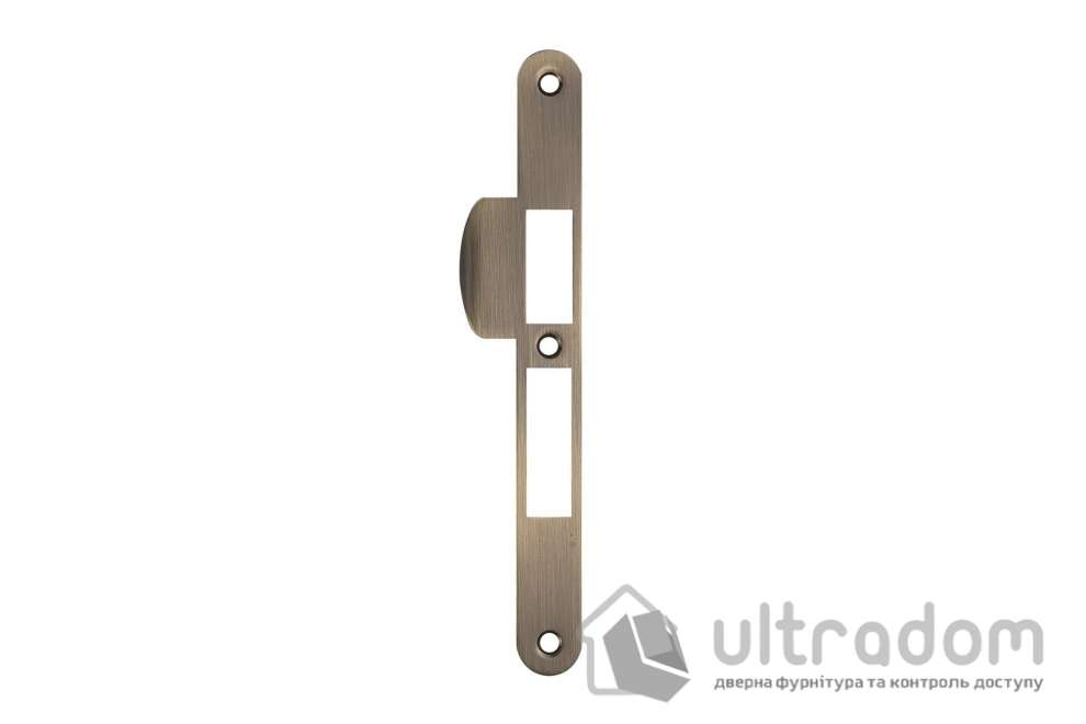 Ответка для замка SIBA 10585 под ключ, под четверть, цвет - ант.бронза.