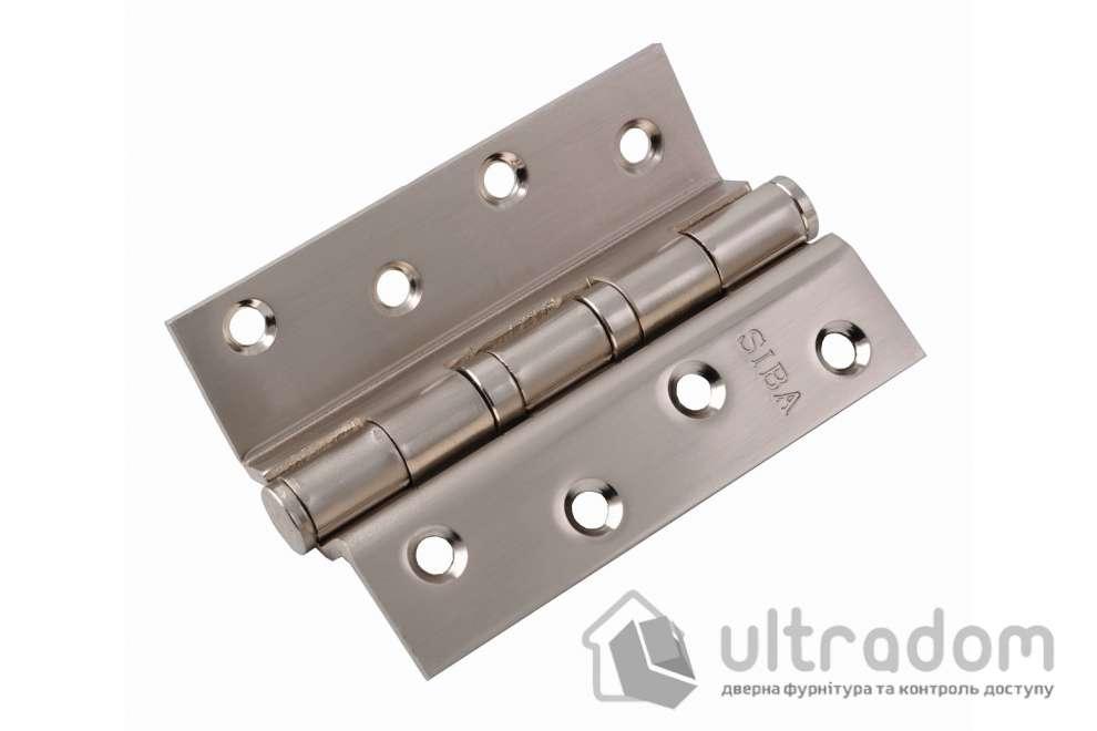 Стальные угловые петли SIBA 100 мм. , SN - матовый никель