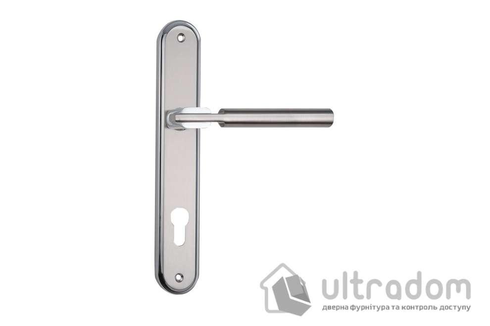 Дверная ручка на планке под ключ (85 мм) SIBA Assisi мат.никель-хром