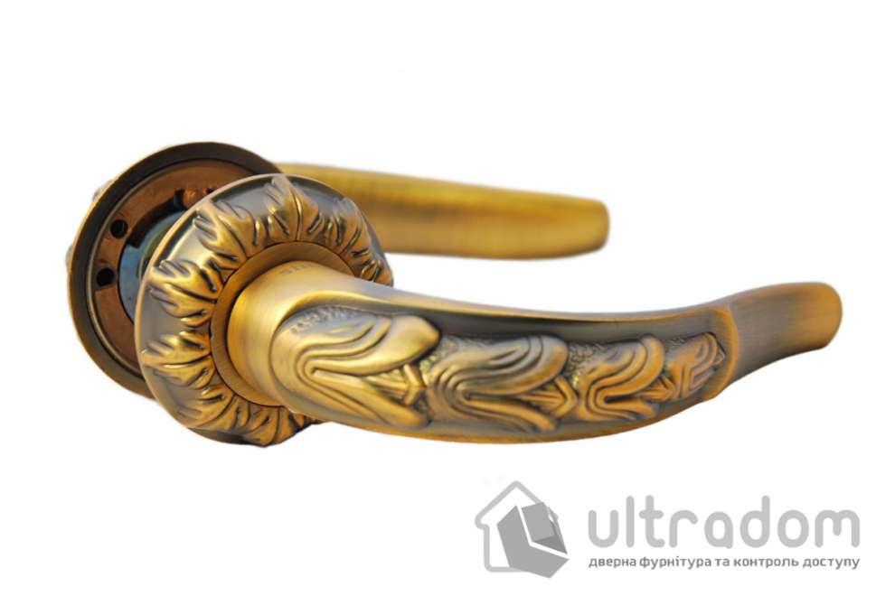 Ручка дверная на розетке SIBA Sultan, фактурная бронза