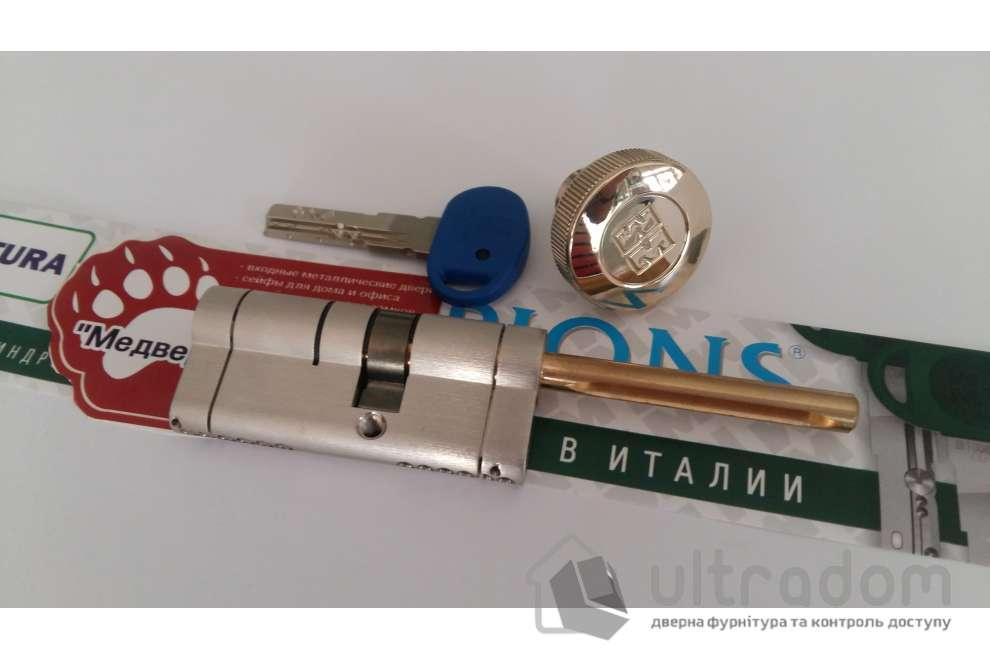 Цилиндр дверной MOTTURA Champions PRO ключ-вороток 62 мм 31x31T