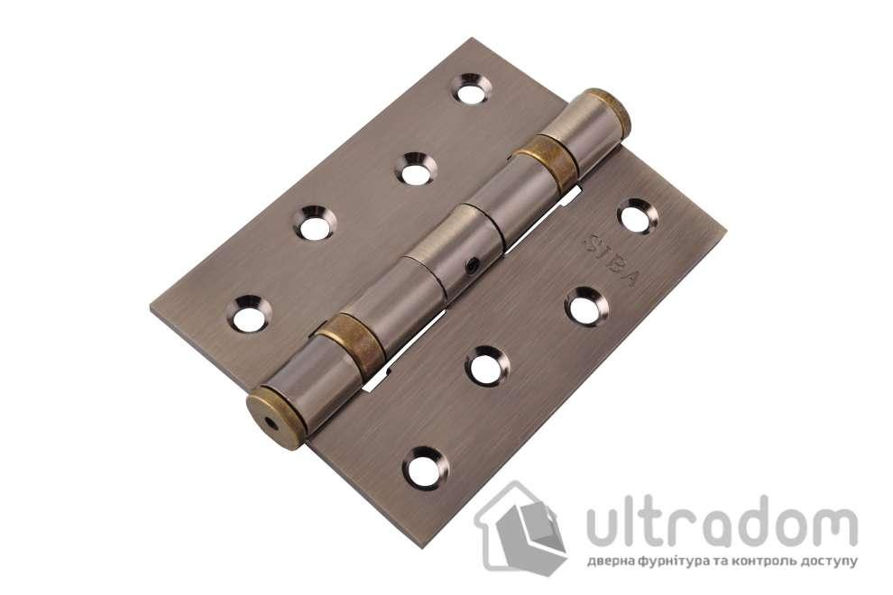 Усиленные универсальные петли SIBA 100 мм, цвет - античная бронза