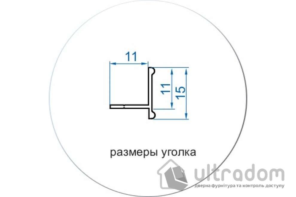 Комплект фурнитуры для шкафа-купе L1800*H2700 Valcomp ARES 3, 2 двери.