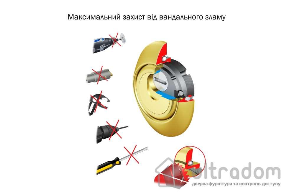 Протектор защитный DISEC MAG 3G2FM 3 класс 25 мм латунь матовая