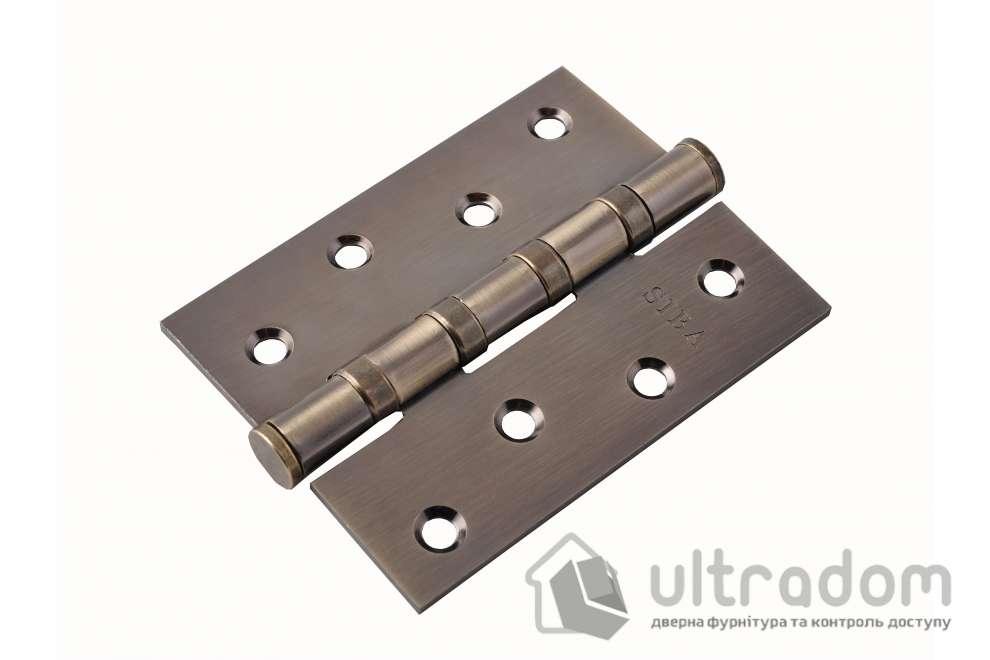 Петли дверные универсальные SIBA 100 мм, цвет - античная бронза