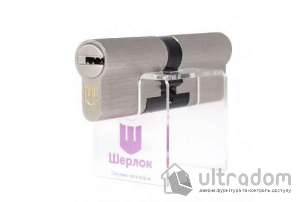 Цилиндр дверной Шерлок Hybrid Key кл-кл. 60 мм