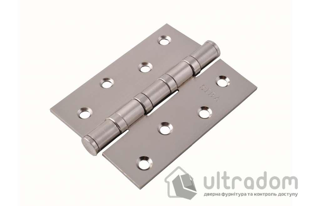 Петли дверные универсальные SIBA 100 мм, цвет - матовый никель