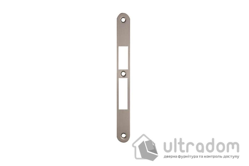 Ответка для замка SIBA 10585 под ключ, под четверть, цвет - мат.никель.