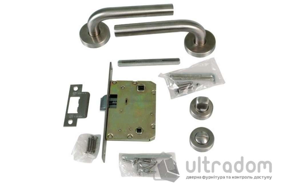 AMIG Комплект замка санузлового Kit ALFA из нержавеющей стали