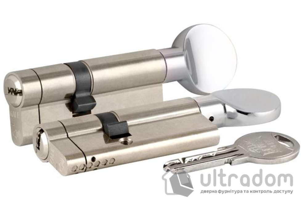 Цилиндр дверной KALE 164 KTB ключ-вороток 90 мм никель