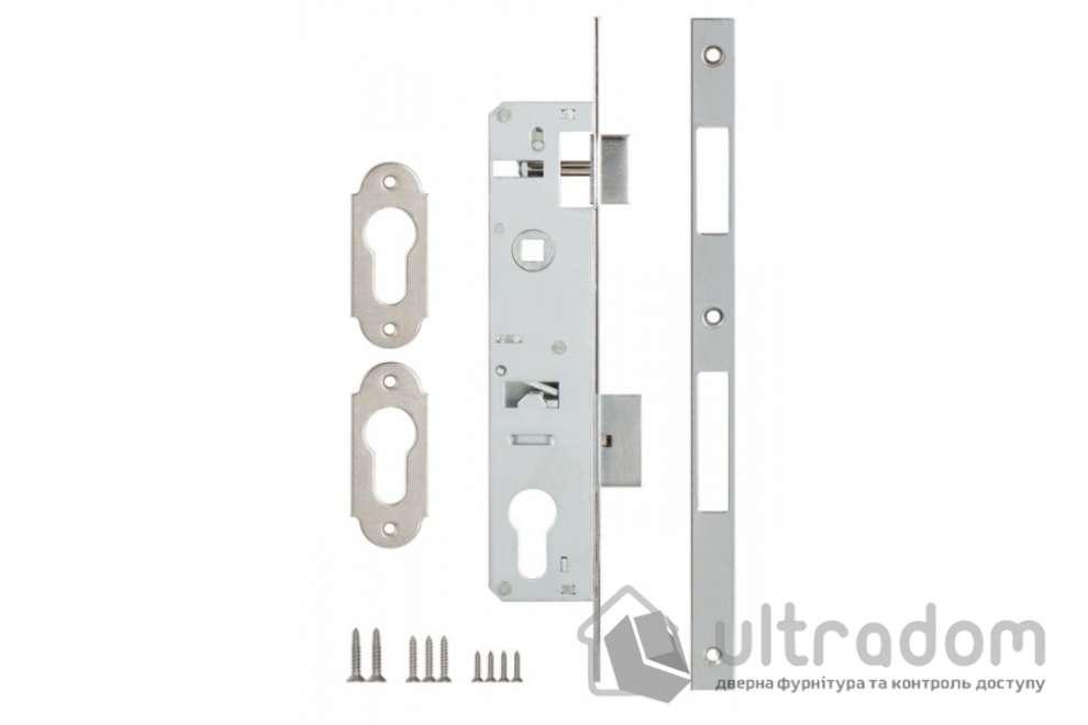 Корпус замка с защелкой KALE 153P-20 для металлопластиковой двери.