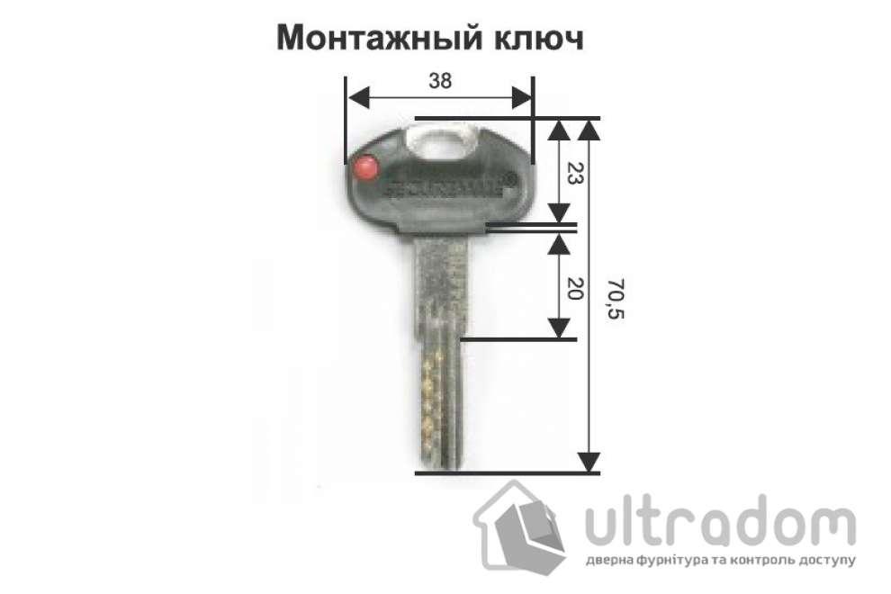 Цилиндр дверной Securemme К2 ключ-вороток 90 мм 5 + 1 монтаж. ключ