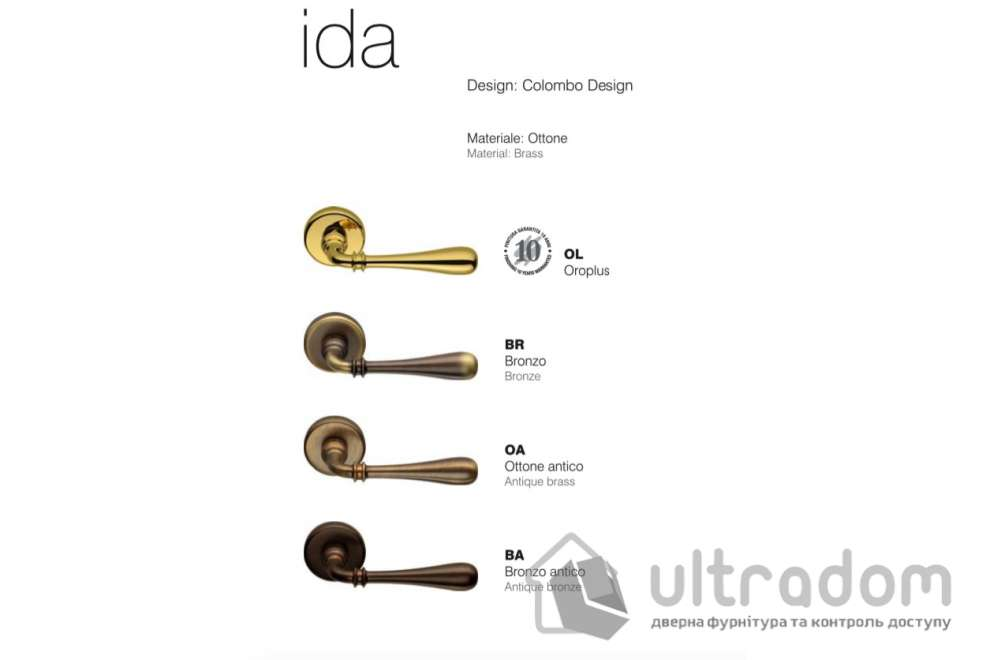 Дверная ручка Colombo Ida ID 31  бронза
