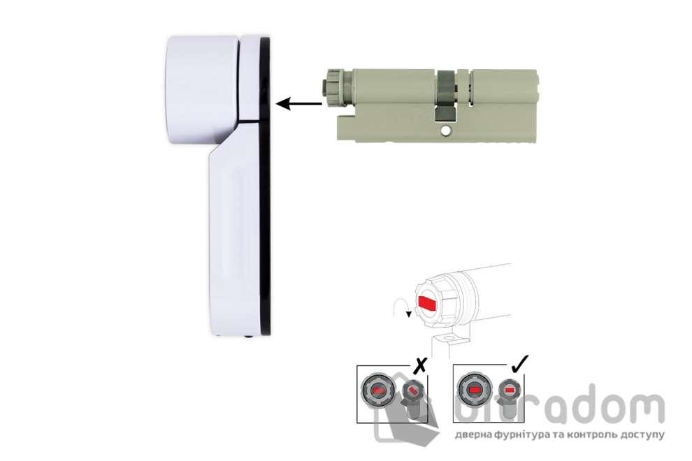 Цилиндр дверной MUL-T-LOCK ENTR 95  мм