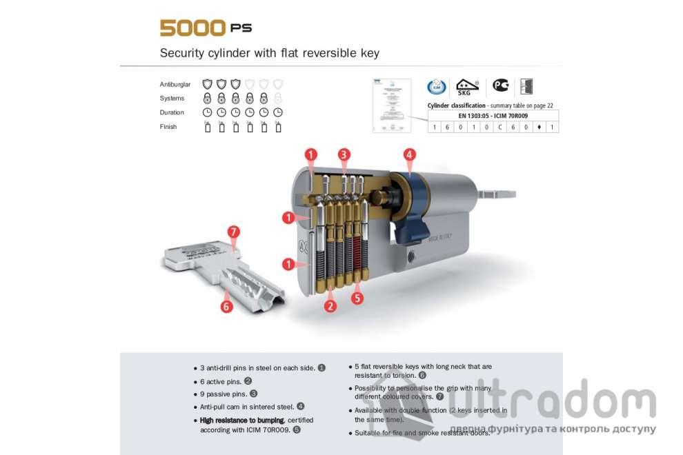 Цилиндр дверной AGB SCUDO 5000 PS ключ-ключ 110 мм