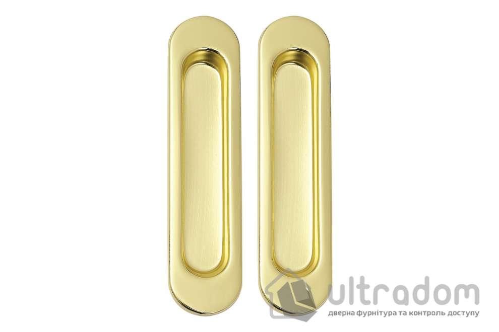 Ручки - ракушки для раздвижных дверей SIBA S222  цвет - полированная латунь