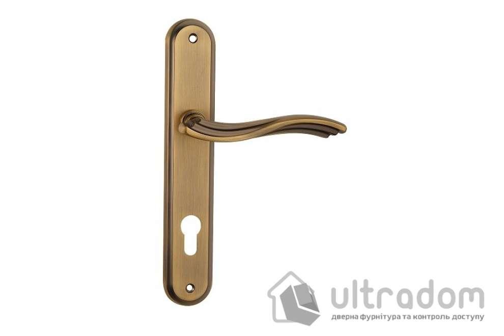 Дверная ручка на планке под ключ (85-62 мм) SIBA Imperia, матовое кофе