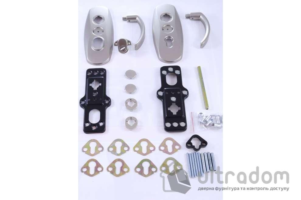 Фурнитура защитная  MUL-T-LOCK Platinum 3 класс 90 мм никель матовый