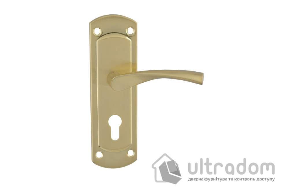 Дверная ручка на планке под ключ (55мм) SIBA Genoa, матовая латунь