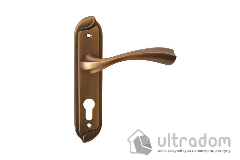 Дверная ручка на планке под ключ (85-62 мм) SIBA Capri, матовое кофе
