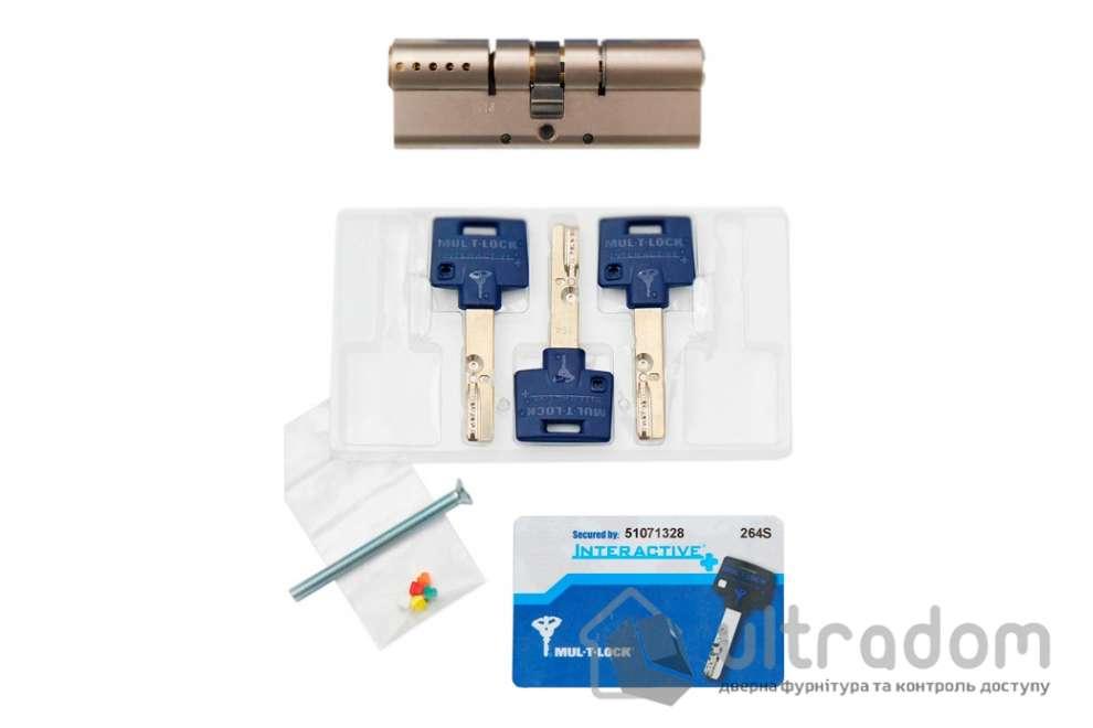 Цилиндр дверной Mul-T-Lock Interactive+ ключ-ключ., 82 мм