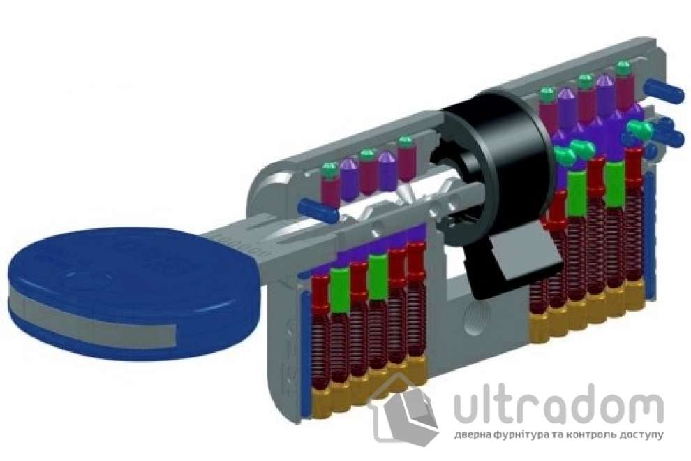 Цилиндр дверной ISEO R7 ключ - вороток, 120 мм