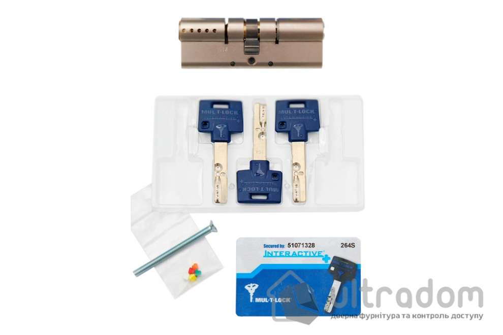 Цилиндр дверной Mul-T-Lock Interactive+ ключ-ключ., 100 мм