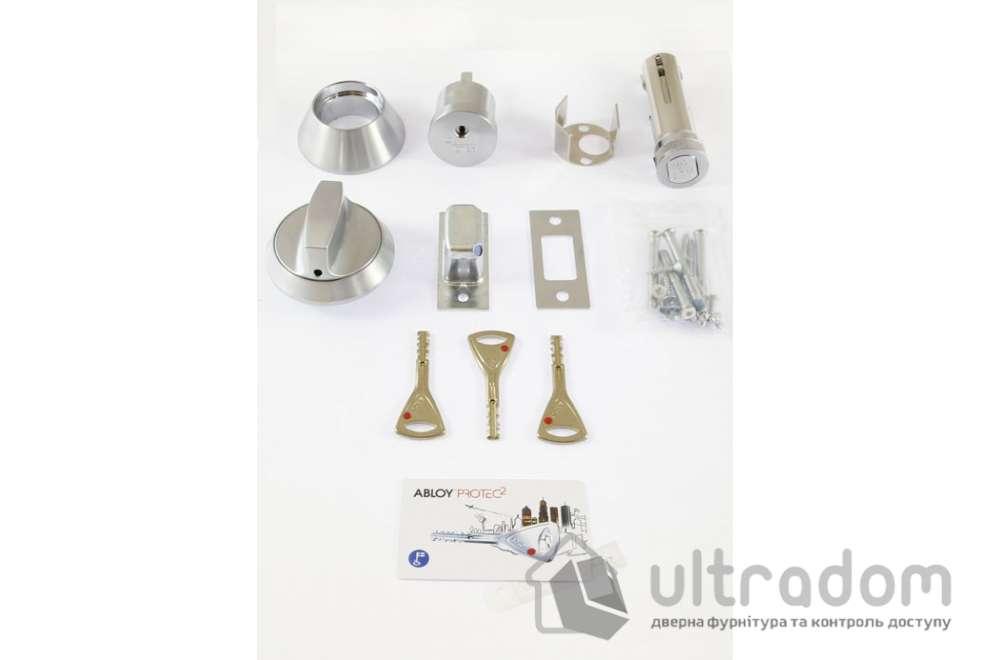 Замок-задвижка для металлической двери ABLOY Protec2 матовый хром