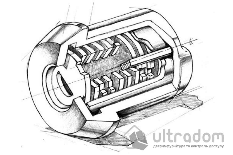 Замковый цилиндр ABLOY Protec 2 HARD ключ-ключ, 123 мм