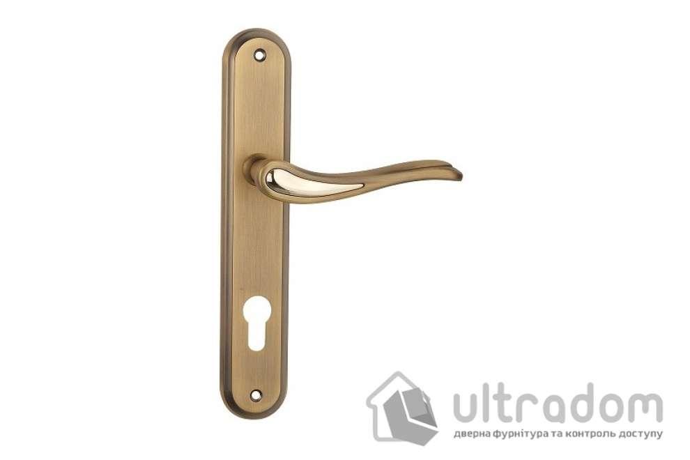 Дверная ручка на планке под ключ (85-62 мм) SIBA Modena, матовое кофе