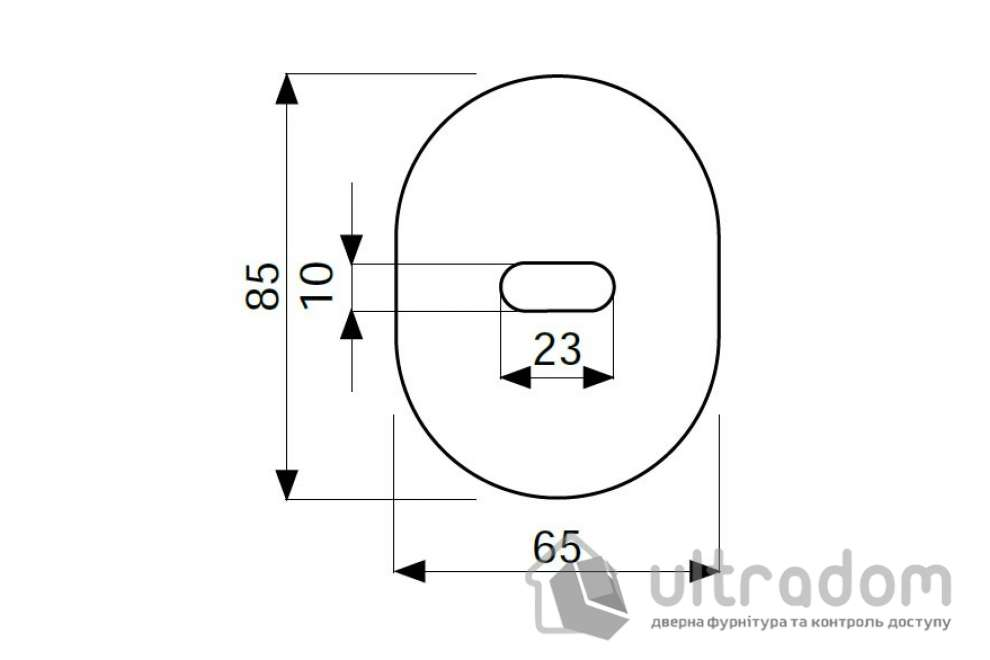 Декоративная накладка  DISEC KT2703 LEVER OVAL