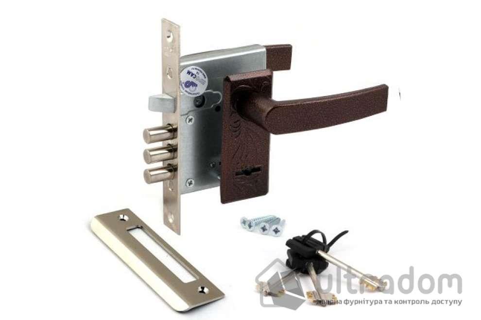 Комплект замка сувальдного  ПРО-САМ ЗВ9-8 с ручками