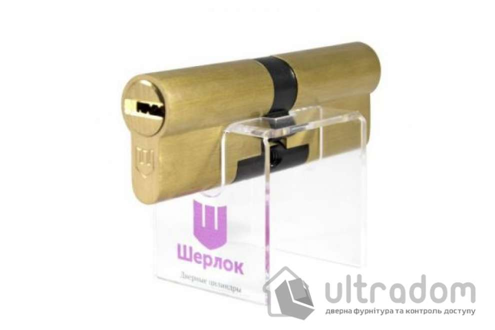 Цилиндр дверной Шерлок Hybrid Key кл-кл. 80 мм