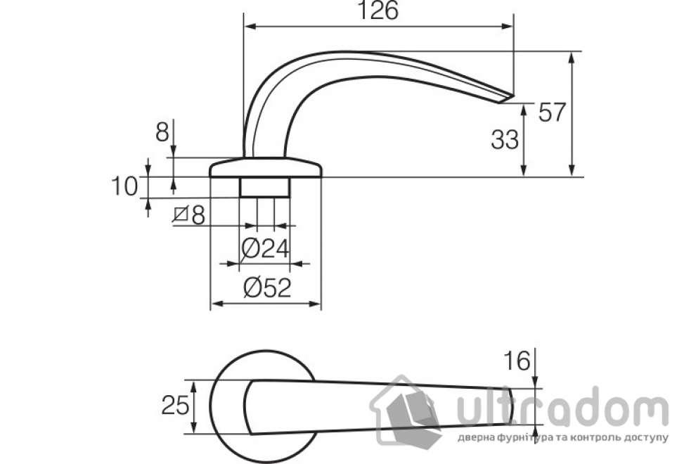 Дверная ручка   ABLOY CLASSICO 9/002