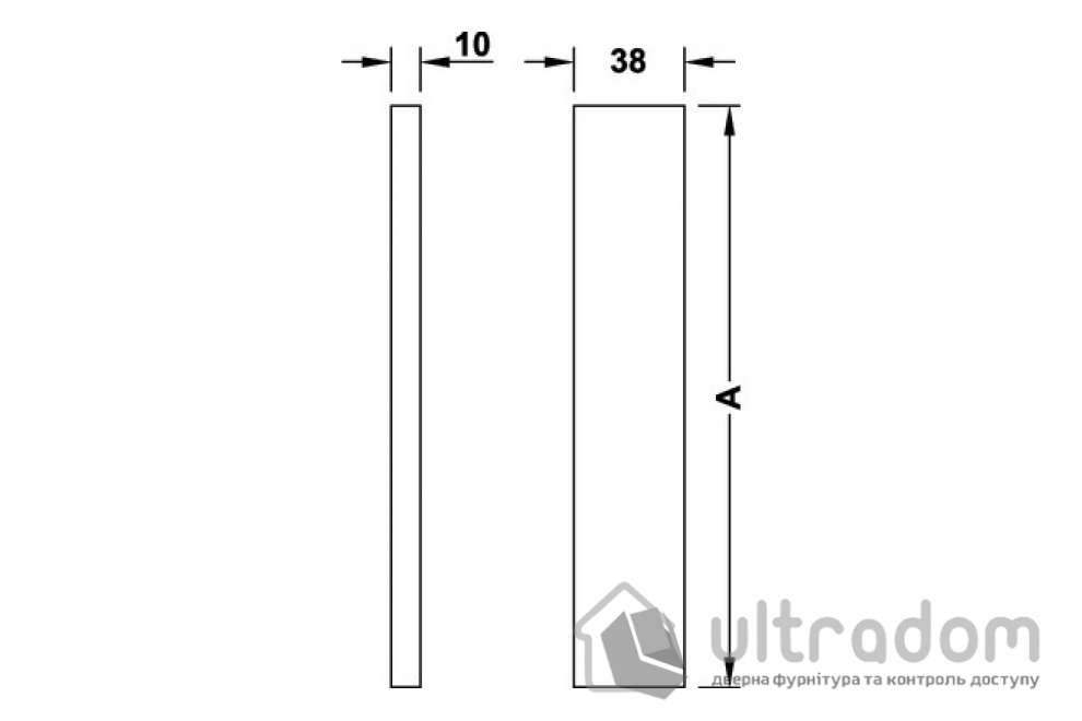 Ручка-скоба для стеклянных дверей HAFELE 141