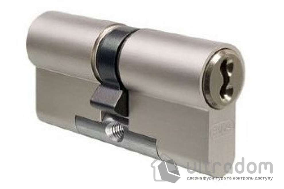 Цилиндр дверной EVVA 3 KS DZ кл-кл., никель 92 мм
