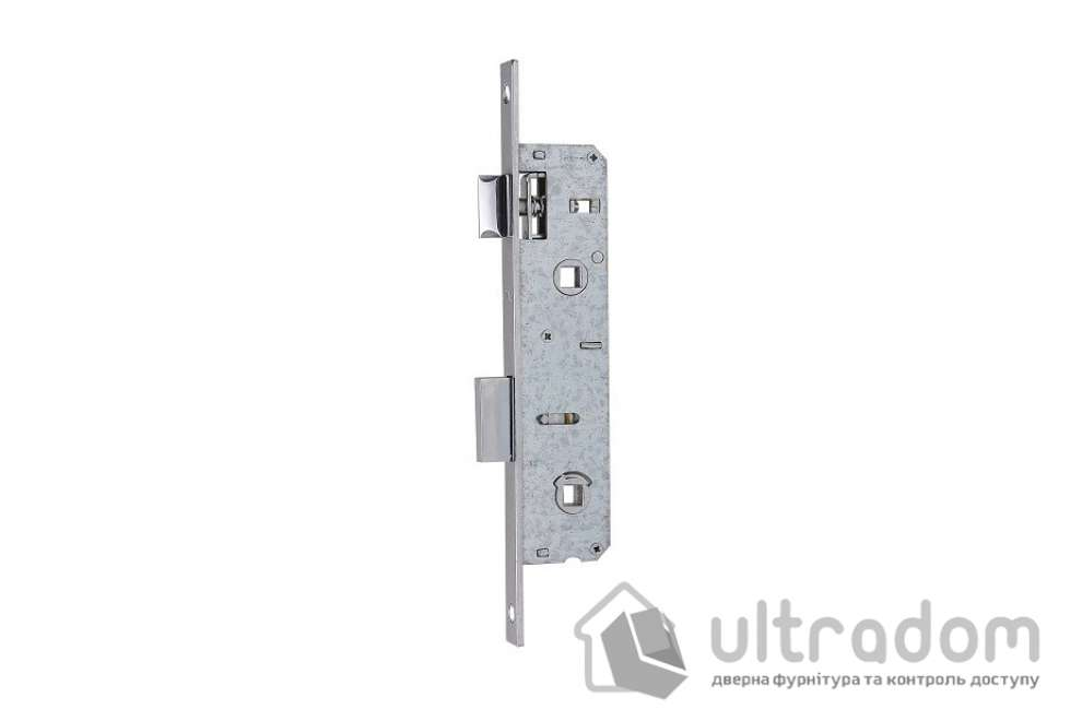 Корпус замка сантехнического с защелкой SIBA 10069PWC-25 для металлопластиковой двери.