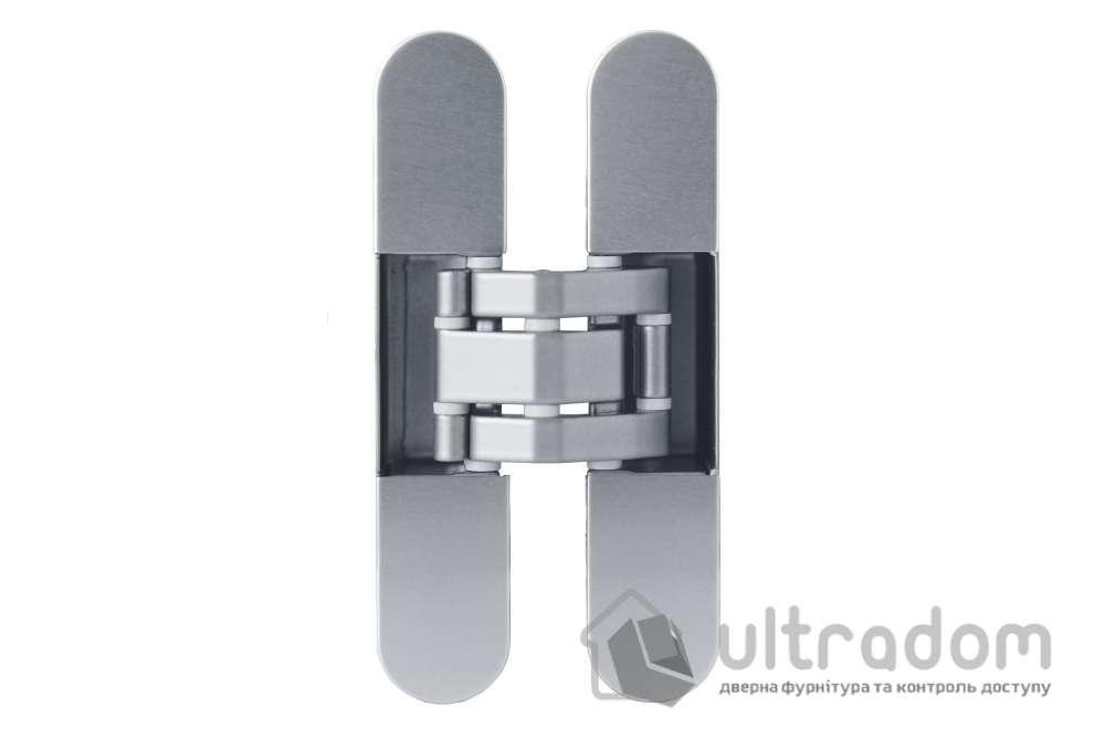 Скрытая дверная 3D петля OTLAV Invisacta IN230 23х120 мм матовый хром