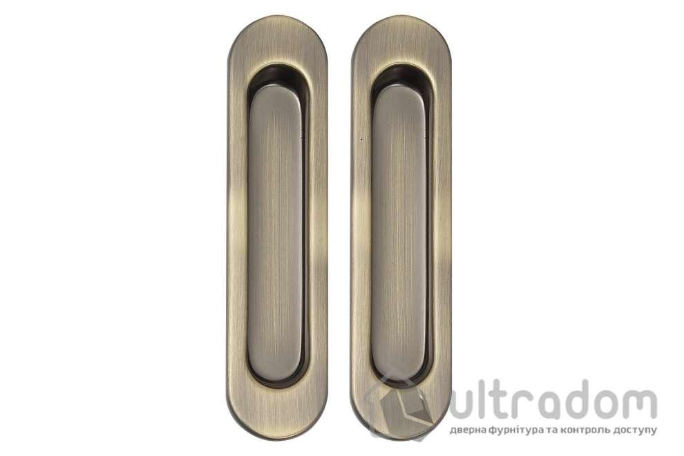 Ручки - ракушки для раздвижных дверей SIBA S222 цвет - античная бронза