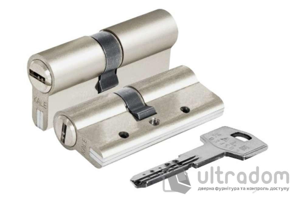Цилиндр дверной KALE 164 DBNE ключ-ключ 100 мм никель
