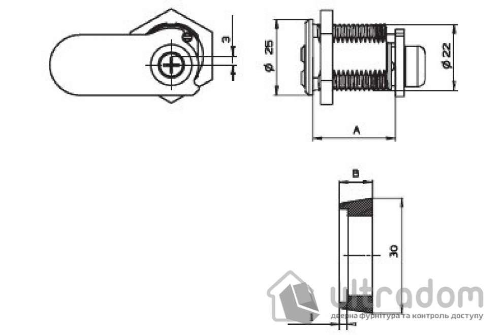 Замок для оборудования MUL-T-LOCK CAM 22