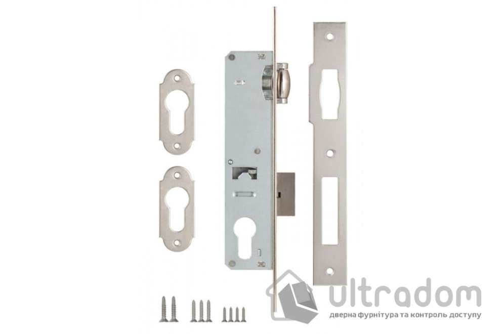 Корпус замка с роликом SIBA 10055-20 для алюминиевой двери.